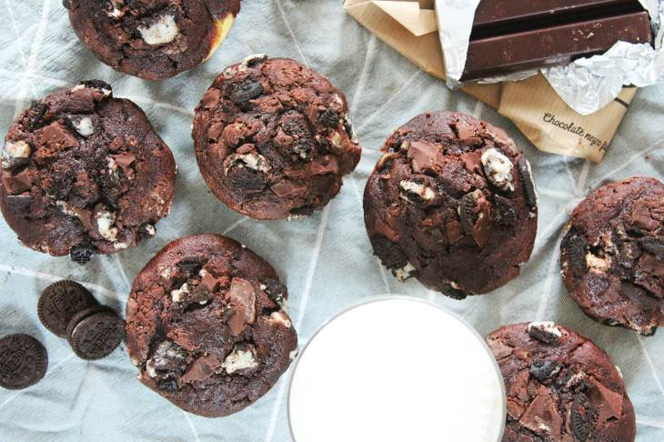 Chocolate oreo muffins recipe