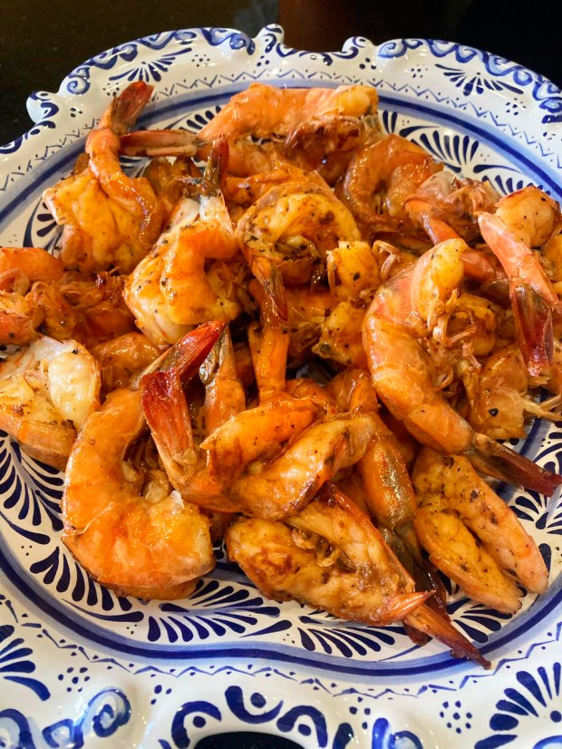 The best spiced shrimp