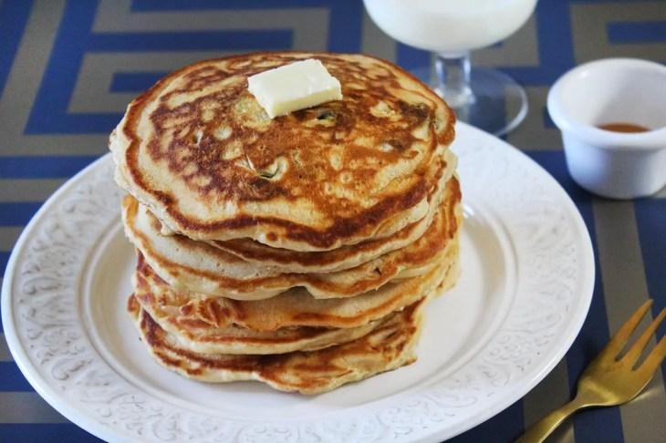 Como hacer pancakes de arándanos