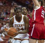 Joyner Holmes defended on the shot-