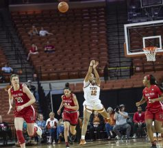 Jada Underwood with a long shot at the period buzzer-was a little short-