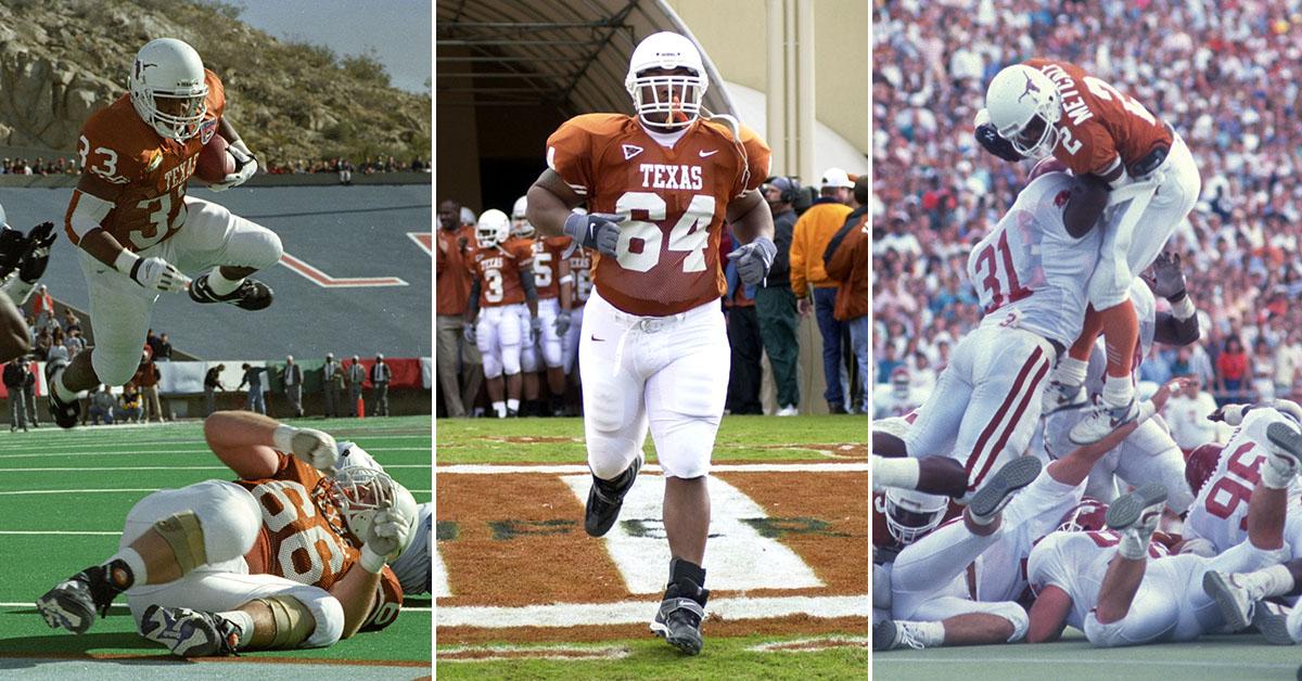 Texas Longhorns Priest Holmes, Casey Hampton, Eric Metcalf NFL Hall of Fame Nominees