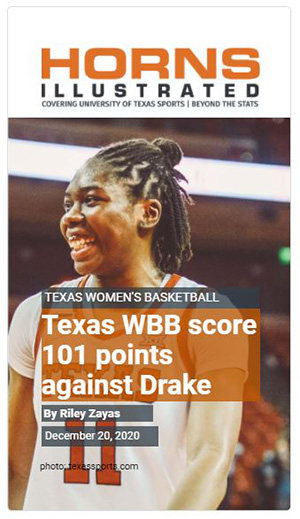 Texas Women's Basketball Story - 101 Points