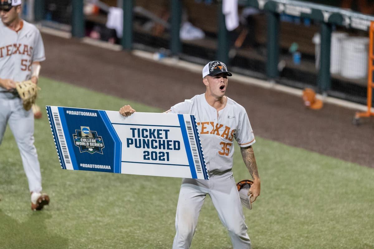Texas Baseball Punch Ticket To Omaha