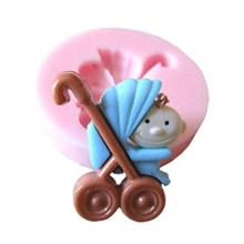 NZ-0245 Silicone Mold Baby Carriage #2.1