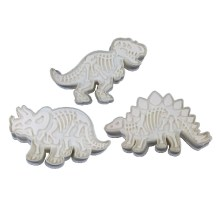 3pc Dinosaur Cut & Embossing Plastic Cookie Cutter Craft Set_0004_Background