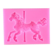 NZ-0700 Carousal Horse With Pole Silicone Mold #2_0007_Layer 6