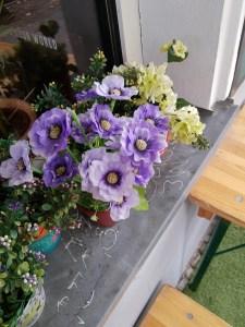 macetas con flores, feng shui