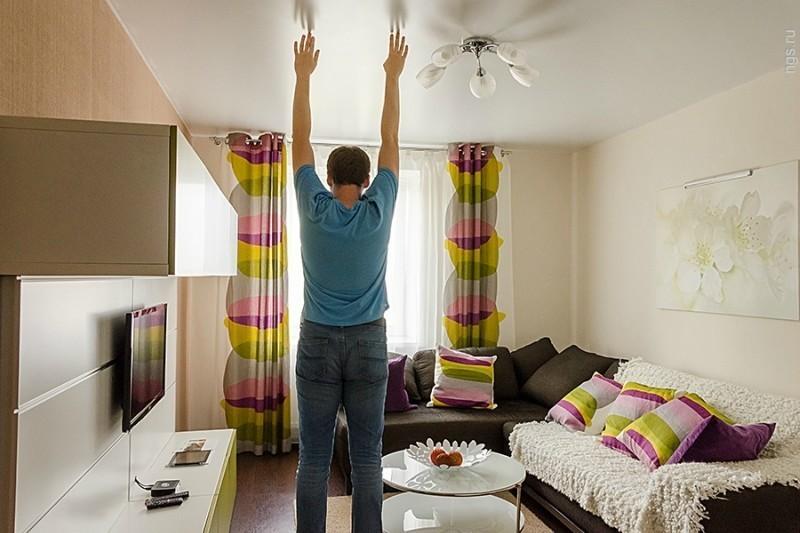 Nivelul de plafon al apartamentelor moderne