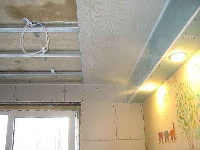 soffitto di plastica in cucina - installazione del telaio
