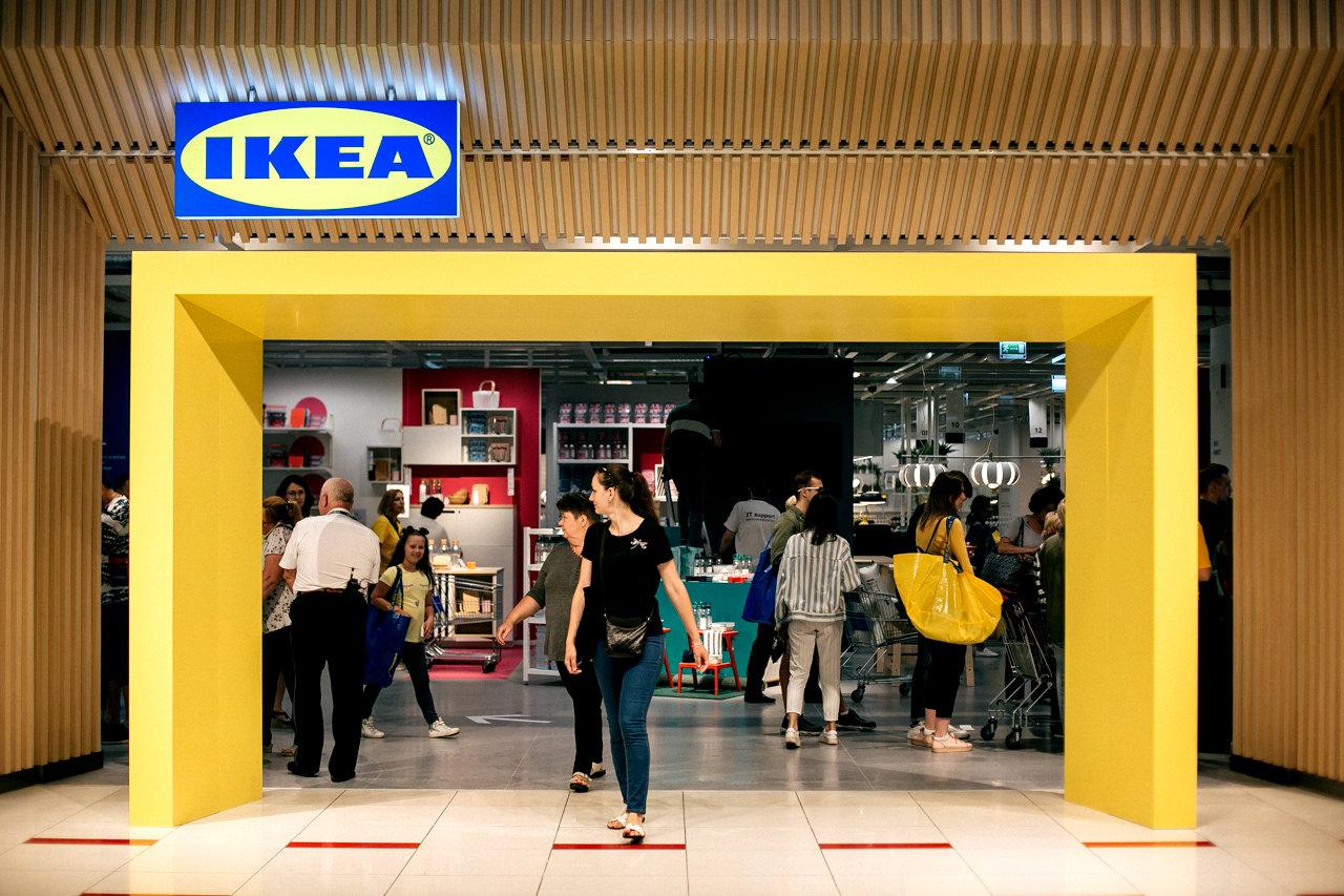 Im Sommer 2019 eröffnete im Sommer 2019 im Einkaufszentrum Einkaufszentrum das erste in Moskau kompakte Studio Ikea