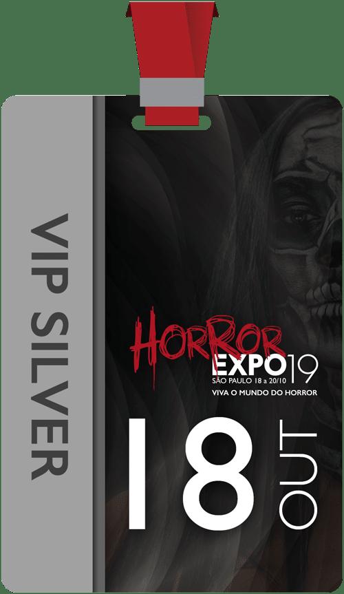 Horror Expo: Ingresso VIP Silver Individual | Horror Expo | Viva o Mundo do Horror | Feira Internacional do gênero Horror para Cinema, TV, Literatura, Games, Música e Cultura Pop