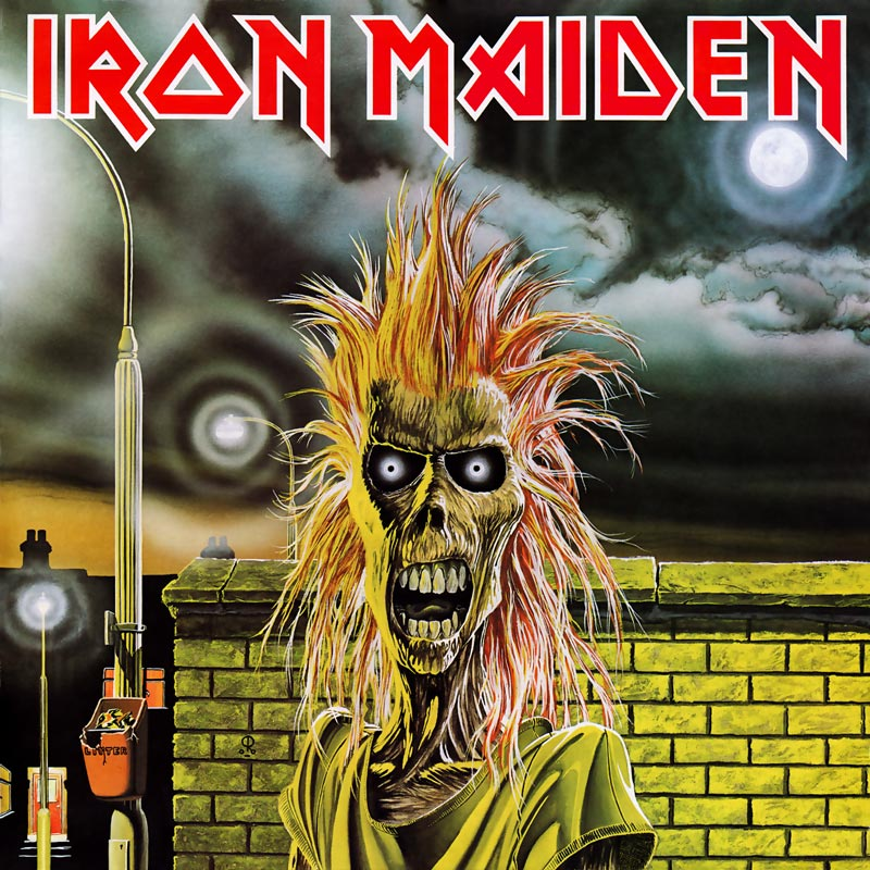 "Capa do álbum ""Iron Maiden"""
