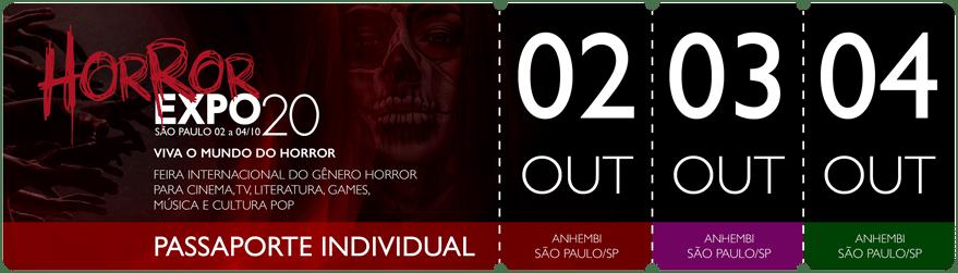 Horror Expo: Passaporte dias 02, 03 e 04/10/2020 | Horror Expo | Viva o Mundo do Horror | Feira Internacional do gênero Horror para Cinema, TV, Literatura, Games, Música e Cultura Pop