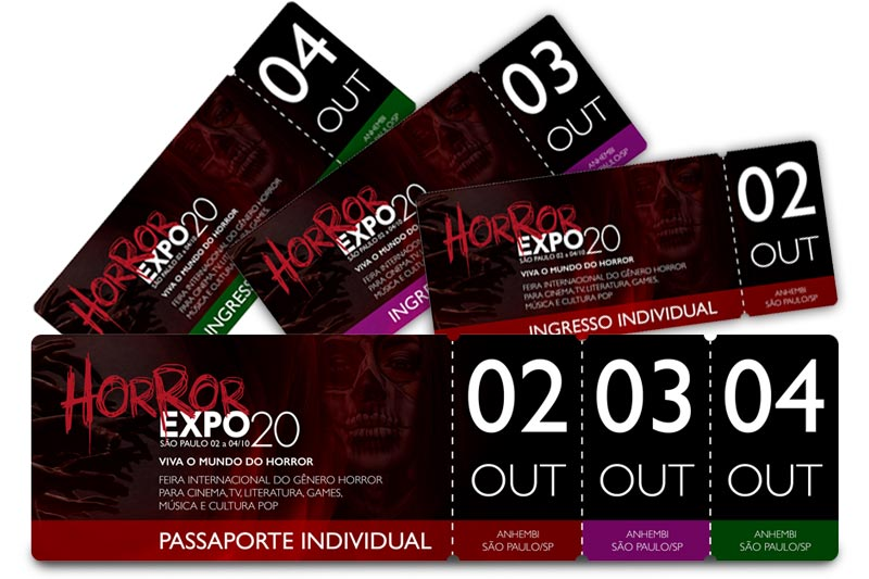 Ingressos | Horror Expo 2020 | Viva o Mundo do Horror | Feira Internacional do gênero Horror para Cinema, TV, Literatura, Games, Música e Cultura Pop