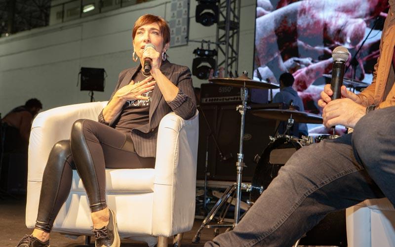 Painel com Naomi Grossman na Horror Expo 2019 | Foto: Mariana Serralha
