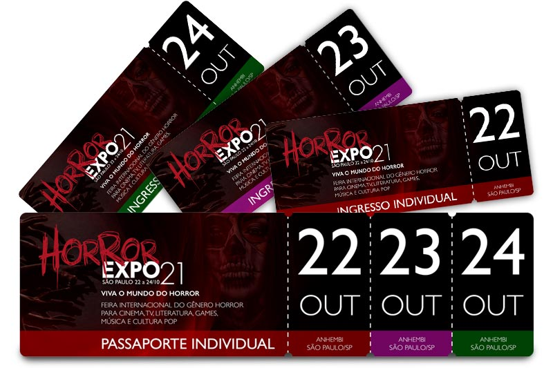Ingressos | Horror Expo 2021 | Viva o Mundo do Horror | Feira Internacional do gênero Horror para Cinema, TV, Literatura, Games, Música e Cultura Pop