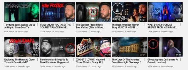 videos on the omar gosh channel