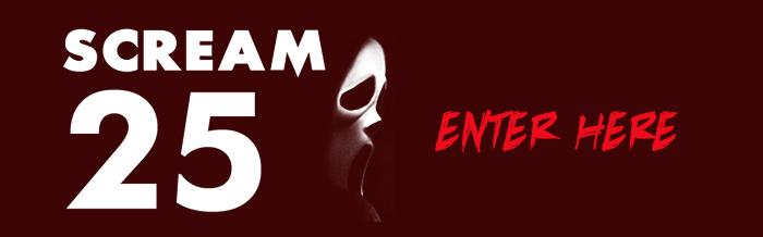 Scream 25 art show banner