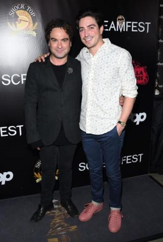 (L-R) - Johnny Galecki and Ben Feldman