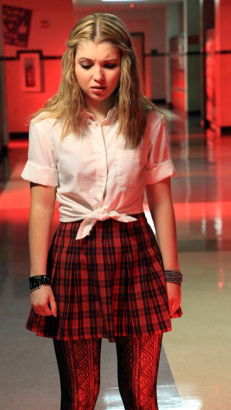 """Sammi Hanratty as Siouxsie Hess in the thriller """"BAD KIDS OF CRESTVIEW ACADEMY"""" a Momentum Pictures release. Photo courtesy of Momentum Pictures."""