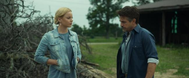 "(L-R) Abbie Cornish as Jane and Dermot Mulroney as Patrick in the thriller film ""LAVENDER"" an AMBI Media Group release. Photo courtesy of AMBI Media Group."