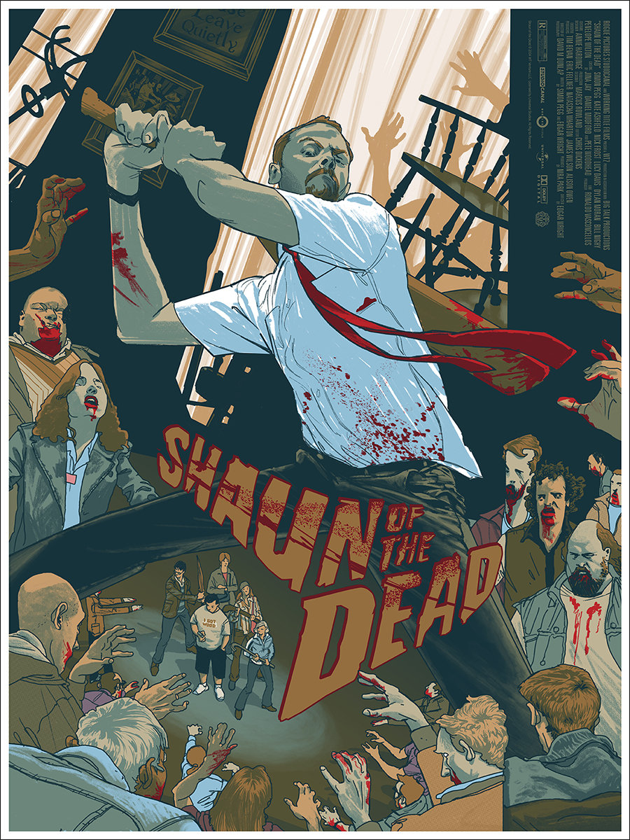 Mondo To Release Incredible New Poster Art For SHAUN OF THE DEAD!
