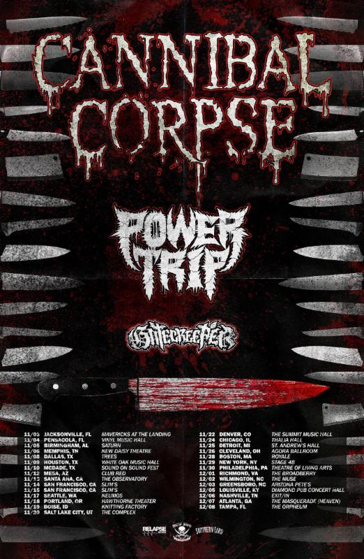 Death Metal Legends CANNIBAL CORPSE Ready To Embark On US Tour This November!