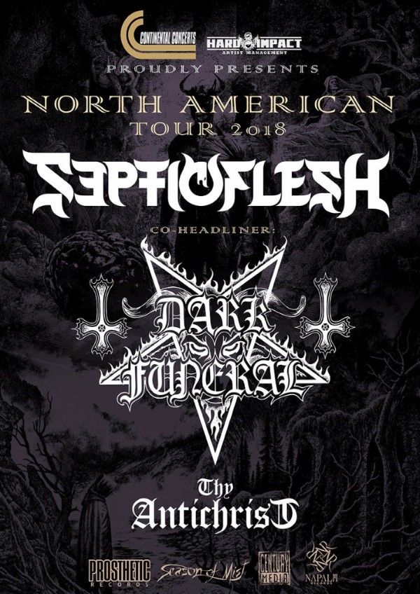 DARK FUNERAL Announce 2018 North American Headlining Tour!