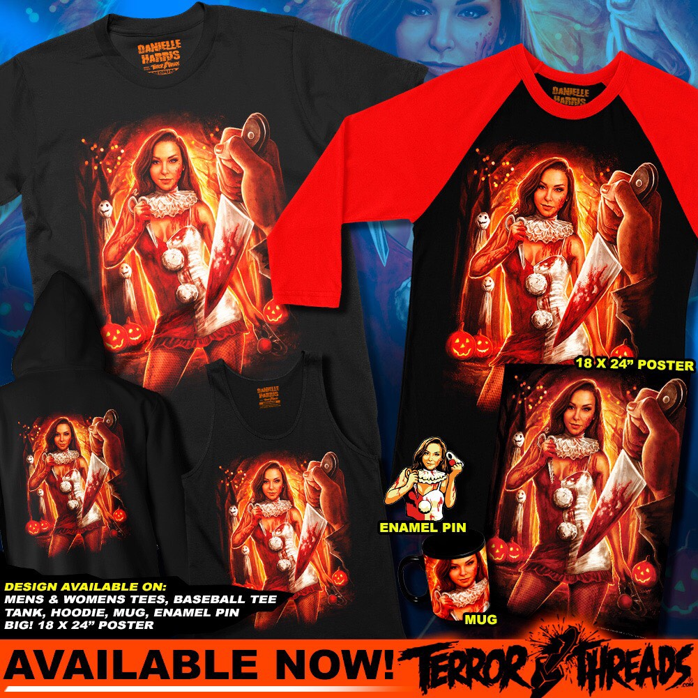 TERRIFIER, HALLOWEEN, & DANIELLE HARRIS Apparel From Terror