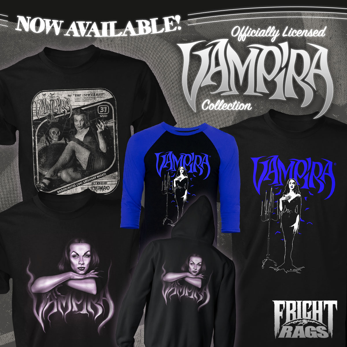 Fright-Rags Rings in the New Year with ROBOCOP, TEEN WOLF, and VAMPIRA Collections!