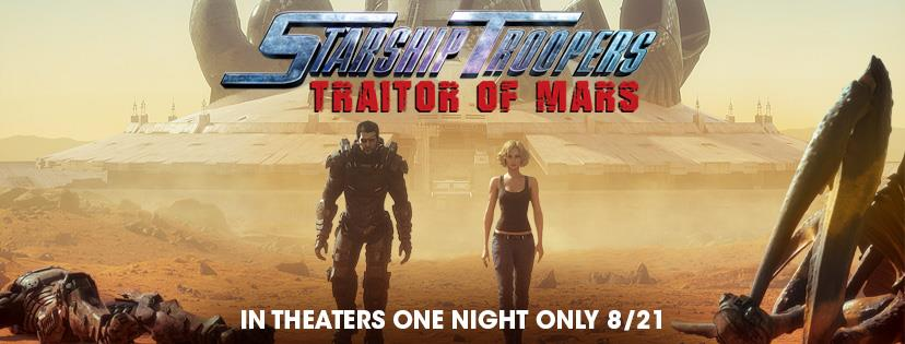 For One Night Only US Audiences Can See 'Starship Troopers: Traitor of Mars' On The Big Screen!