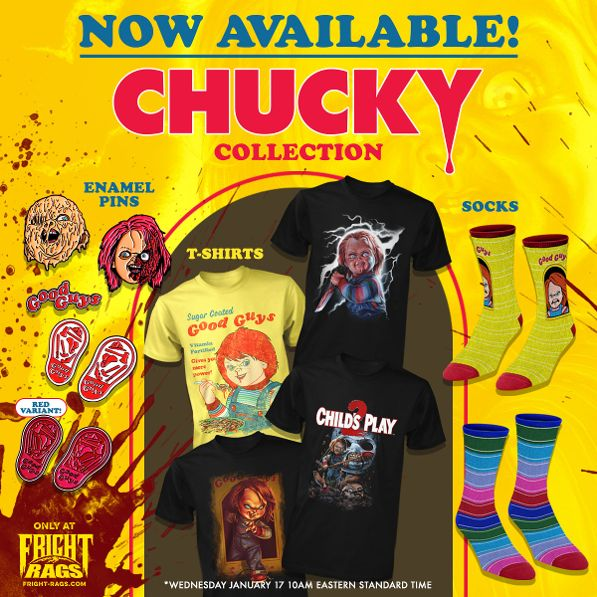 Sorry Jack, Chucky's Back with New Fright-Rags Apparel – Plus Stephen King's Misery!