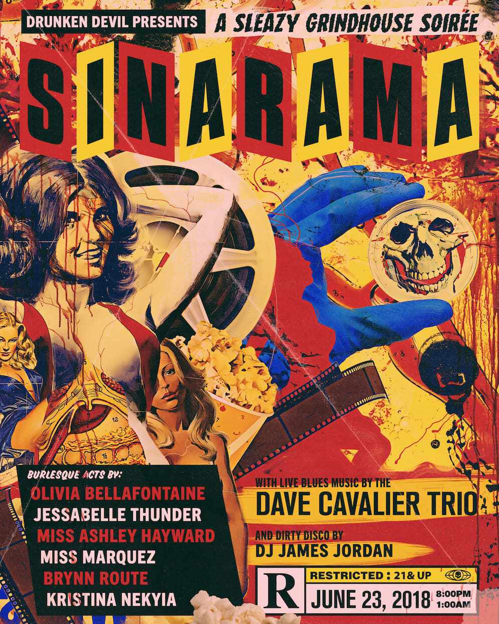 Drunken Devil's 'Sin-A-Rama': A Sleazy Homage to 1970's Grindhouse Cinema