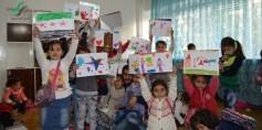 بسماتهم أملنا – عدسة سليم قباني – المصدر تجمع ثوار سوريا