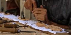 """فنّ """"الحفر على الخشب"""" يعود إلى الغوطة الشرقية"""