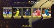 القائمة النهائية للمرشحين لجائزة الكرة الذهبية 2017