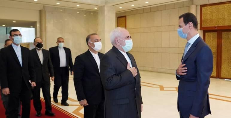 """""""ظريف"""" يزور """"الأسد"""" ويفتتح قنصلية إيرانية جديدة"""