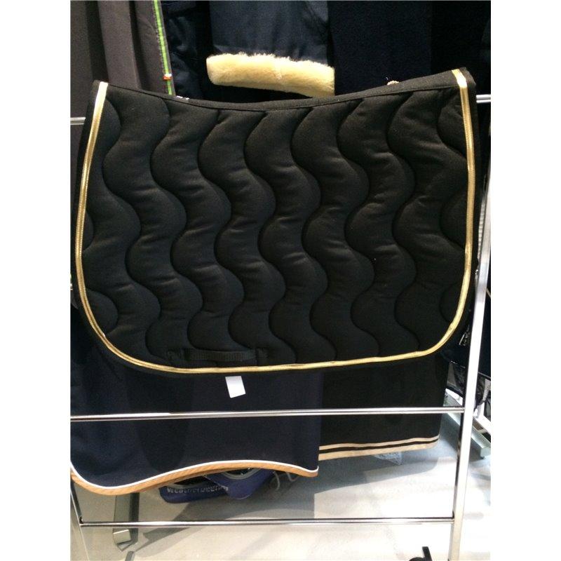 tapis dressage noir galon noir et vernis or