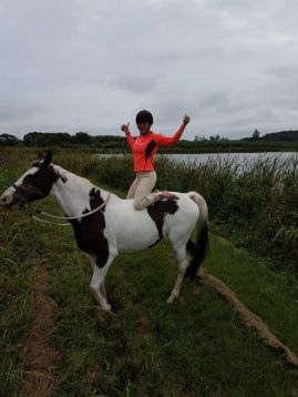 Yoga on horseback