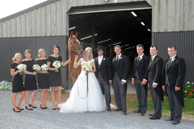 Katie and Jackson Laurie's wedding celebrated their combined love of horses (Image: Diana Dobson/The Black Balloon)