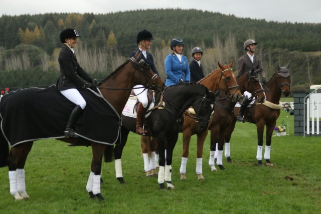 The line up of prizewinners in the NRM CCI3*. Girls ruled!