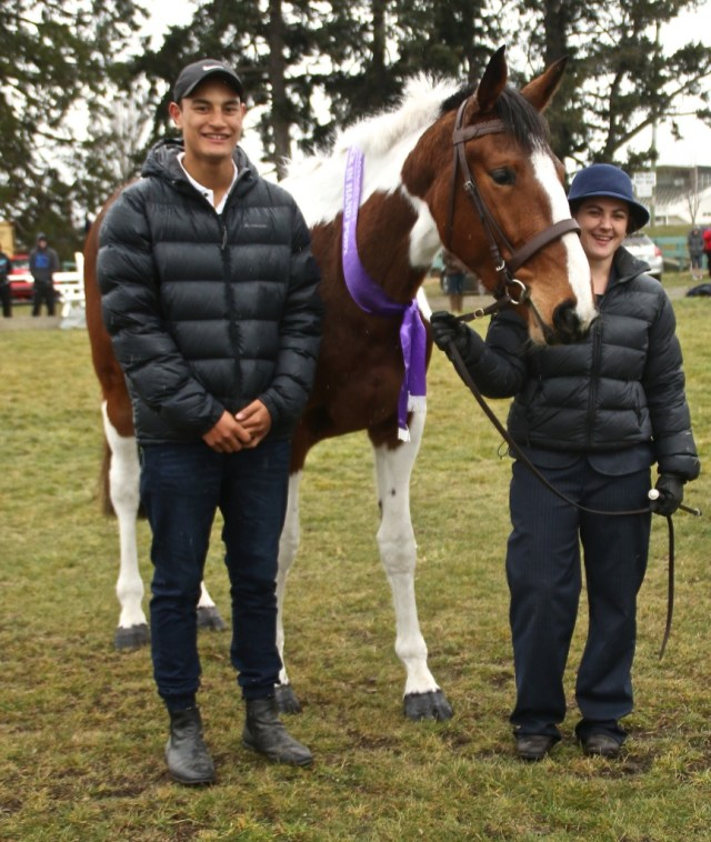 Maia Waretini at his fundraising show with one of the in-hand winners