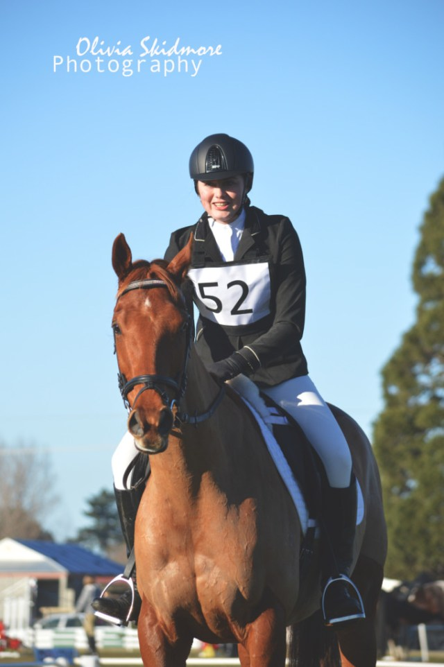 Jess Hobby had My Imagination in the 80cm class. (Image: Olivia Skidmore Photography)