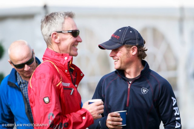 Andreas Ostholt with German Eventing Coach Christopher Bartle. (Image: Libby Law)