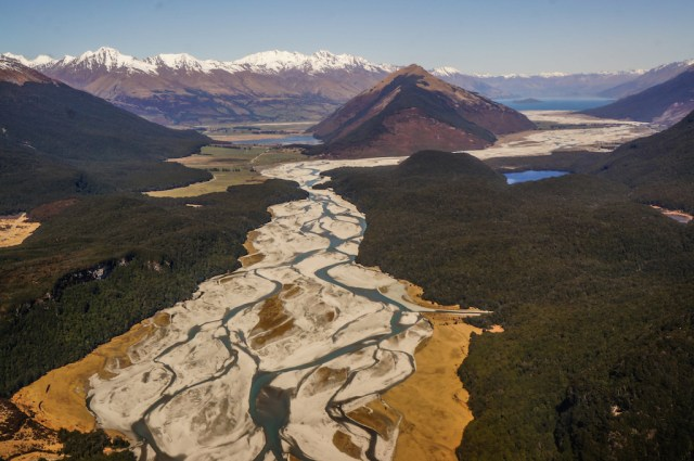 The famous braided river from above (Image: Vladka Kennett Photography)