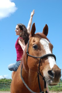 Horseback Yoga Twist