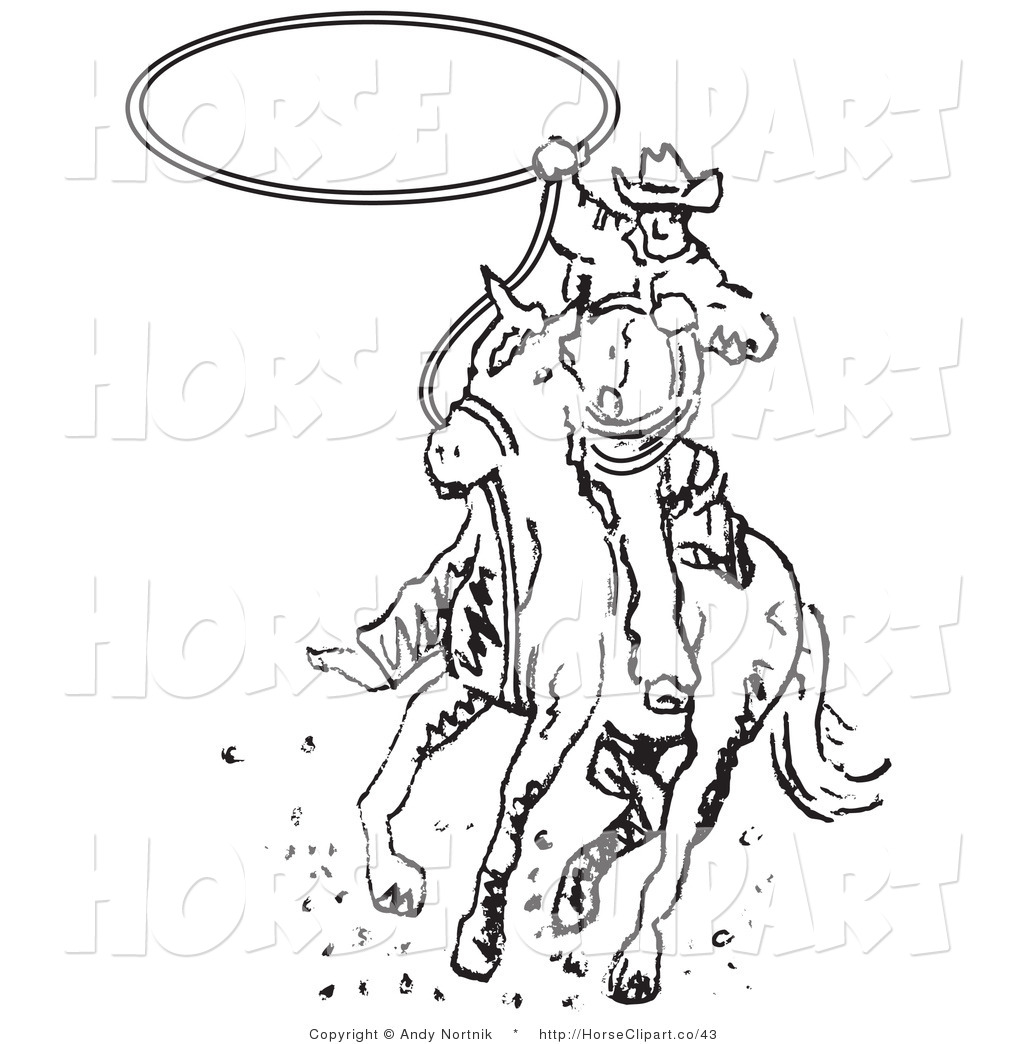 Royalty Free Stock Horse Designs Of Rodeo Coloring Pages