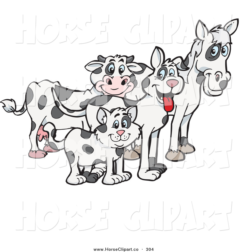 Royalty Free Cow Stock Horse Designs