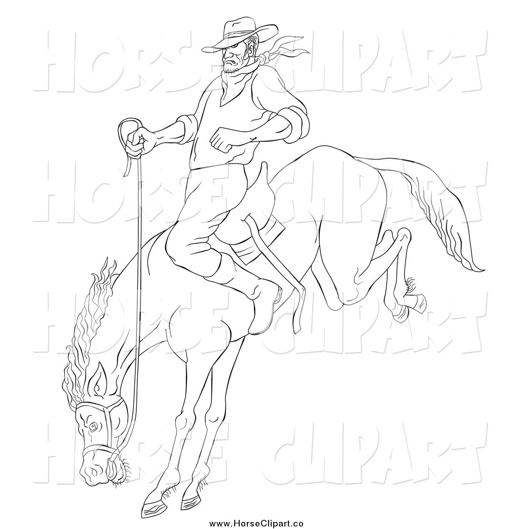 Royalty Free Stock Horse Designs Of Rodeo Cowboys